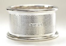 Sterling Silver Engine Turned Napkin Ring